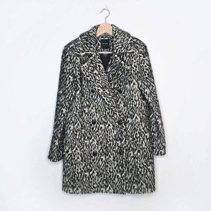 Smythe leopard wool alpaca double breasted coat